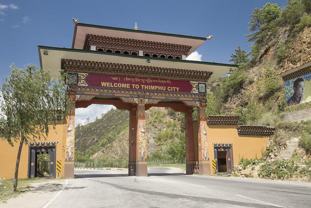Portal de entrada de Thimphu