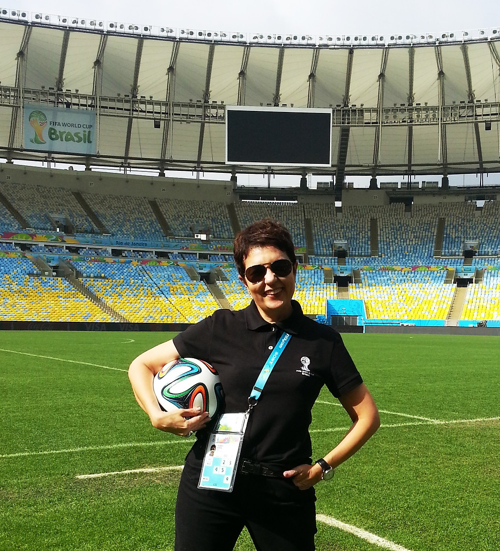 Eu, Guiga Soares, no gramado do Maracanã ( Foto: Acervo pessoal)