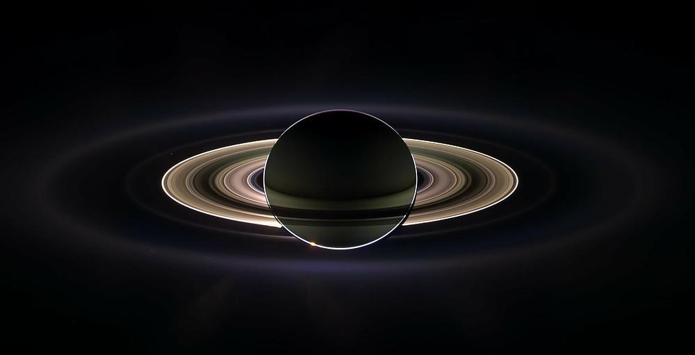 Saturno e seus anéis, Pixabay