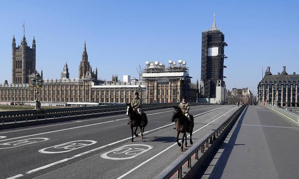 Londres vazia por causa do Covid-19.