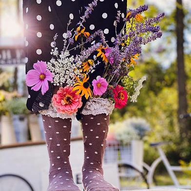 Wildflowers in socks