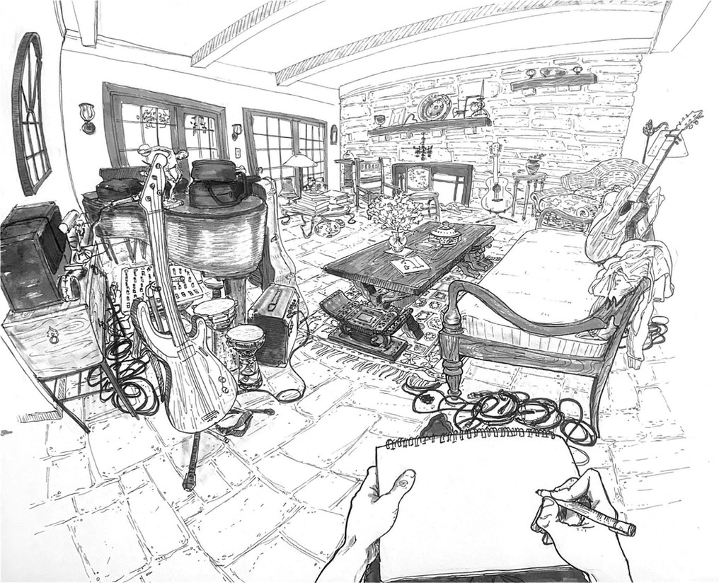 3 Point Curvilinear Perspective Drawing
