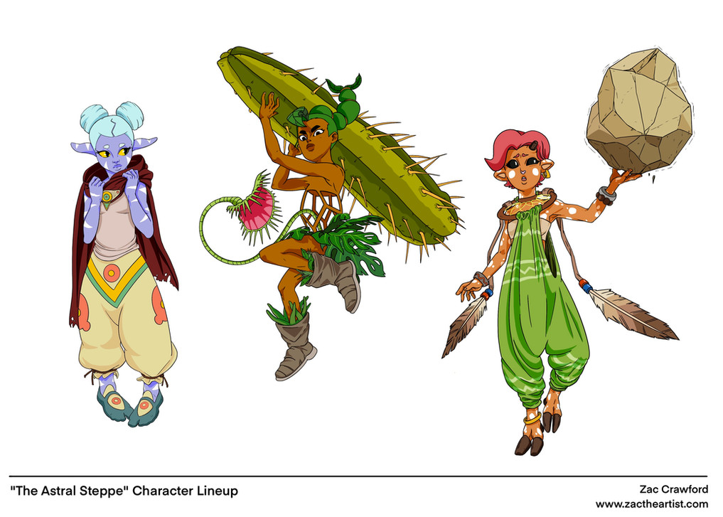 Astral Steppe Character Lineup