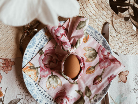 Easter Tables & Bunny Napkins