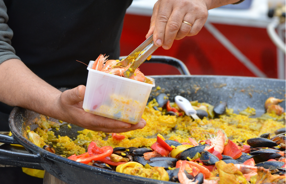 Preparacion de Paella Marinera
