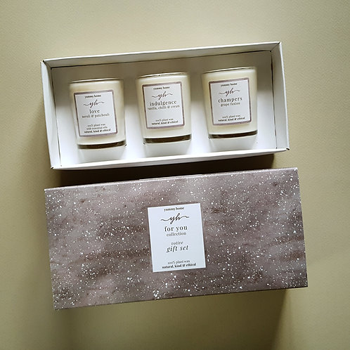 for you collection triple votive gift set