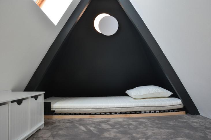 mezzanine dans un appartement rénové à Quiberon