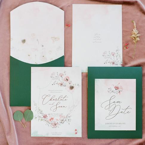 Emerald & Pink Velvet