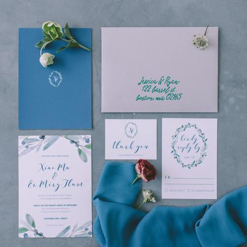 Blue & Olive Wedding at Santorini