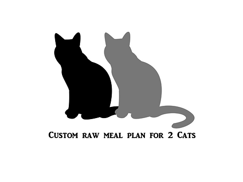 Custom Raw Meal Plan For 2 Cats