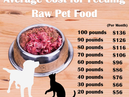 Average Cost for Feeding Raw Pet Food