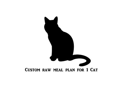 Custom Raw Meal Plan For 1 Cat