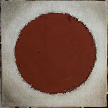 Cratère 1 Peinture, collage de toiles, pigments de terres, colle naturelle 80/80 cm