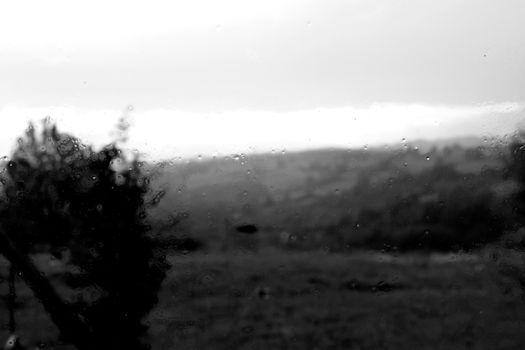 Matière noire paysage pluie 5