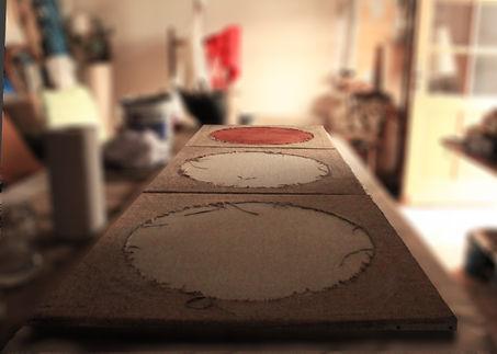 Cratères en cours 240/80 cm