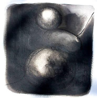 Lumière sur le papier 12 Encre et huile de tournesol  30/30 cm