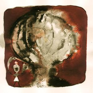 Explosion 3 Encre sur papier 20/20 cm