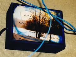 Petite boite avec système d'éclairage d'environ 20/15 cm. Beaucoup d'entre elles n'ont pas été photographiées à l'éopque...