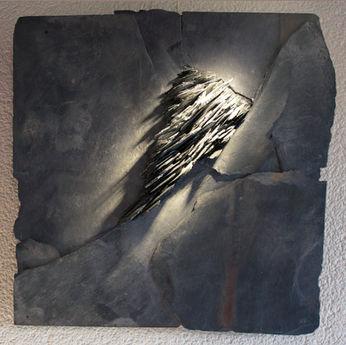 Ardoises tranchante, une géologie imaginaire. 45/ 45 cm