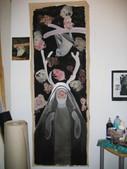 Sans titre Peinture sur toile et collages 200/ 60 cm