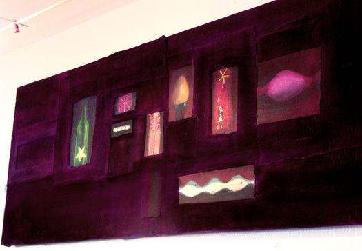 Petite histoire pourpre Tissus, peinture et pigments160/50 cm