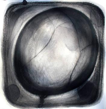 Lumière sur le papier 11 Encre et huile de tournesol  30/30 cm