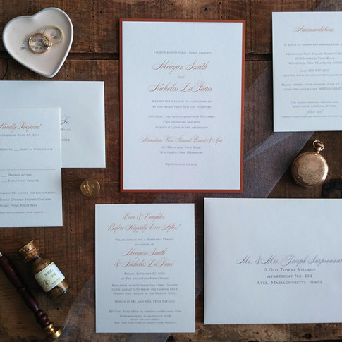 Copper and Ivory Layered Invitation Suite
