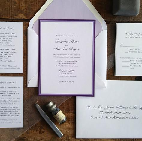 Lavender and Purple Wedding Invitation Suite