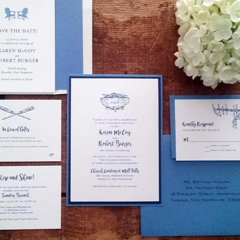 Lakeside Nautical Wedding Stationery Suite