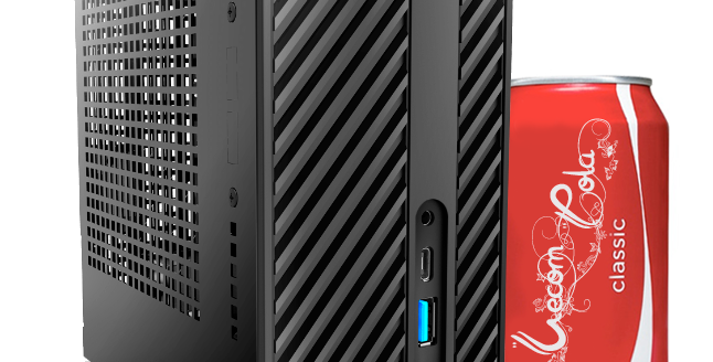 Компьютер Vecom T684 USFF Cel G4900/4Gb/120Gb SSD/NoOS/black