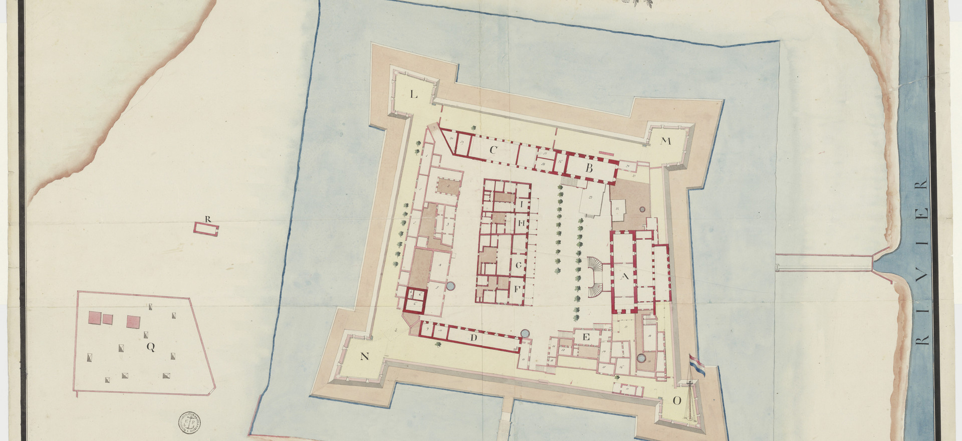 Plan of Pulicat Fort