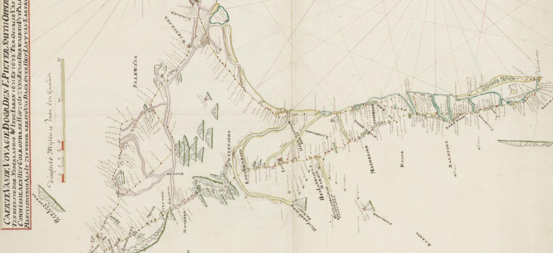 1671AD - Pulicat to Golkonda
