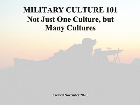 Military Culture 101 Class