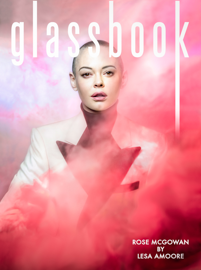 Rose McGowan Cover Of Glassbook Magazine