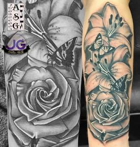 Beautiful rose & lilies.jpg
