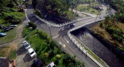 Grand Sable Bridge and Road Aerial View.