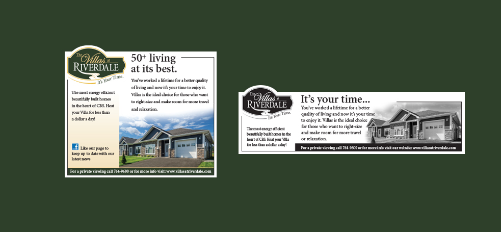 Villas Newspaper and Magazine Ads