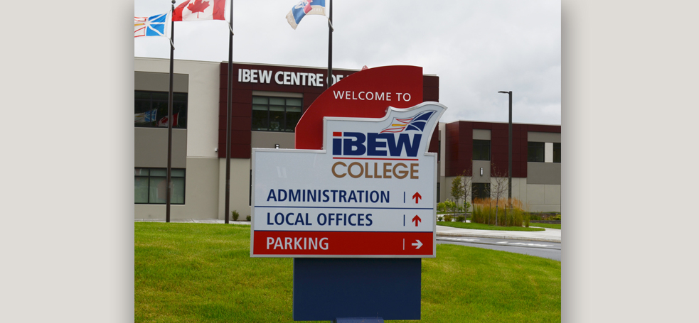 IBEW College Directional Sign
