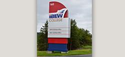 IBEW College Road Sign