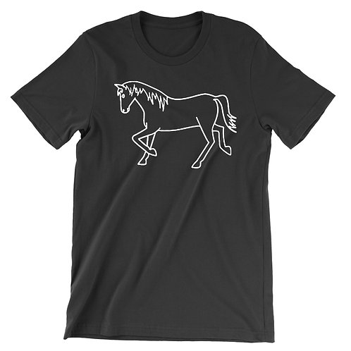 Side Pony Pony Unisex Tee - Black
