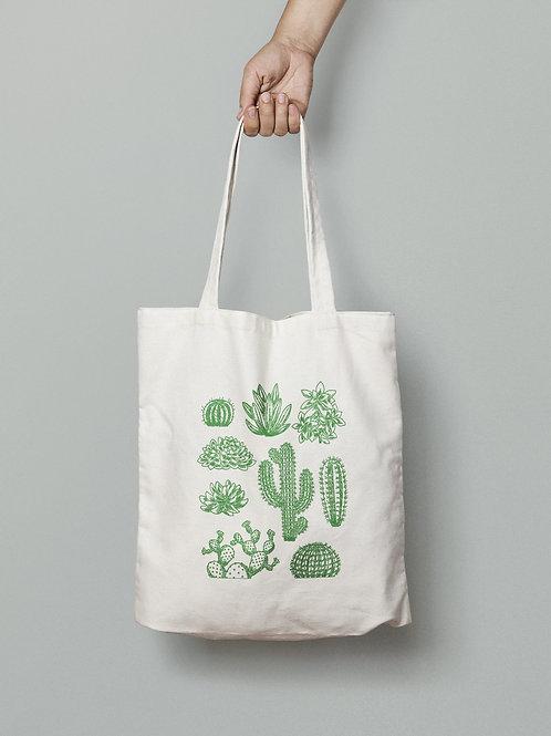 Green Cactus Totebag