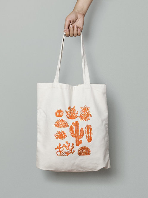 Orange Cactus Totebag