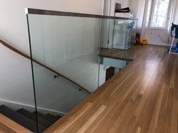 residential glass steps staircase norman