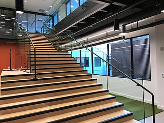 commercial building glass railing norman