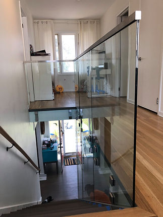residential glass steps staircase upstai