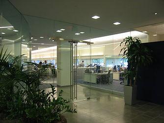 commercial glass office doors frameless