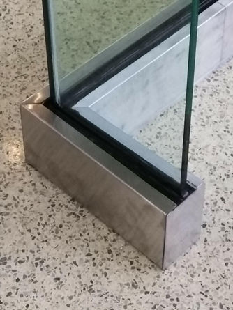 commercial glass railing piece normans g