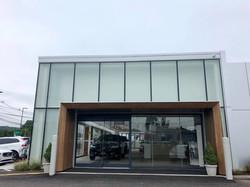 normans blue bmw aluminum glass doors an