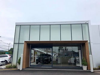 normans blue bmw aluminum glass doors an