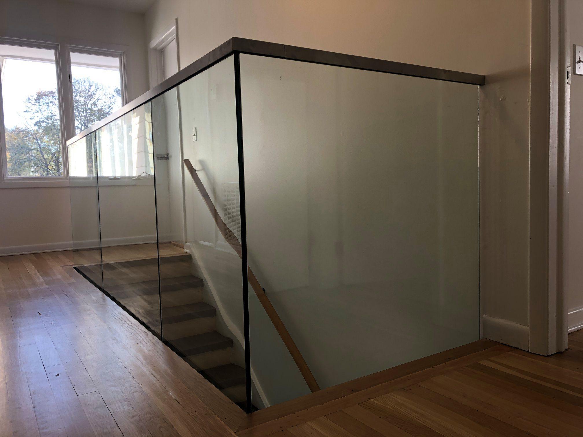 residential princeton glass steps stairc